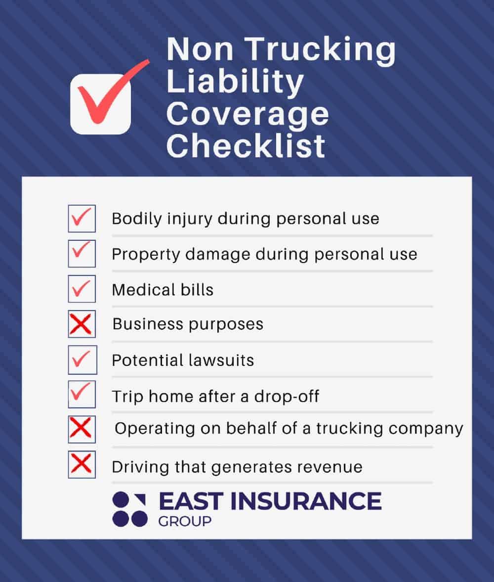 Non Trucking Liability Coverage Checklist